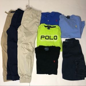 Lot (8) items Polo joggers size 6-7 boys